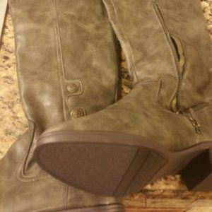 LILLY EDLEMAN OVER THE KNEE BOOTS  OLIVE GREEN 10